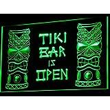 ADV PRO i573-g Tiki Bar is OPEN Mask Display NR Neon Light Sign Barlicht Neonlicht Lichtwerbung