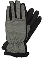 Isotoner Smart Touch Womens Gray Micro-Check Tech & Text Gloves Smartouch