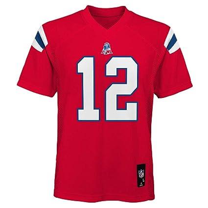Outerstuff Tom Brady New England Patriots Red Youth - Playera de Manga  Corta 0db6fe2f80c