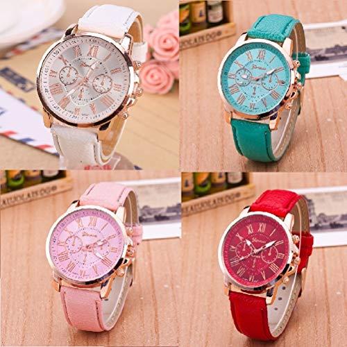 (Luxury Leather Brand Quartz Watch Women Men Round Neck Wrist Watch Fashion Watch)