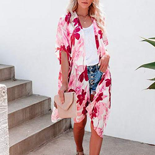 Summer Tops for Women 2019 Tronet Plus Size Women V-Neck Printing Middle Sleeve T-Shirts Easy Tops Blouses