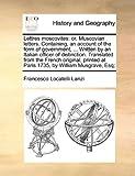 Lettres Moscovites, Francesco Locatelli Lanzi, 1170618421