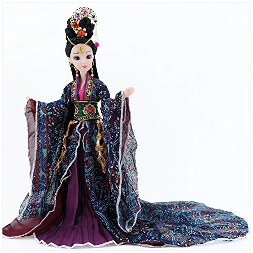 Udecoroption Oriental Decor, Tabletop Decorative Doll with Exquisite Hairstyle and Doll Clothes Outfits Chinese Dressed Up Figurine for Home - Chinese Doll Collectible