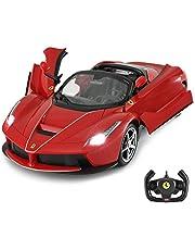 RASTAR Ferrari Remote Car, 1:14 Ferrari LaFerrari Aperta RC Drift Car with Convertible Top, Open Doors by Manual - Red