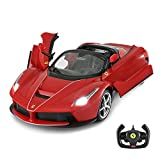 Ferrari RC Car | Rastar 1/14 Ferrari LaFerrari Aperta Remote Control Model Car, Drift RC Car - Convertible Top, Open Doors, Red, New Arrivals