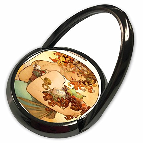 3dRose Florene Art Deco and Nouveau - Painting By Alphonse Mucha Fruit - Phone Ring (phr_61840_1)