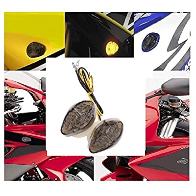 aegarage86 High performance motorcycle flush mount led turn signal smoke lens for aftermarket universal motorcycle honda cbr rr and all model: Automotive