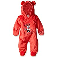 Disney Baby Girls' Cute As A Button' Minnie Mouse Pram, Red, 0-3 Months