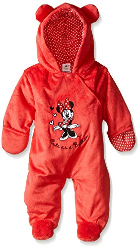 Disney Characters As Babies (Disney Baby Girls'  Cute As A Button' Minnie Mouse Pram, Red, 3-6 Months)
