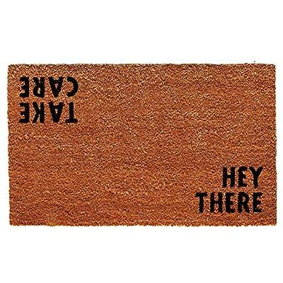 "Calloway Mills 100511729 Hey There Doormat, 17"" x 29"" x 0.60"", Natural/Black"