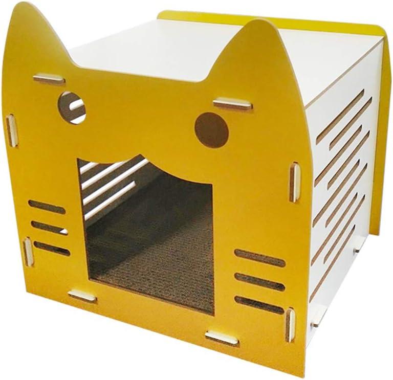 Muebles para gatos | Rascador de gato corrugado y cara de gato ...