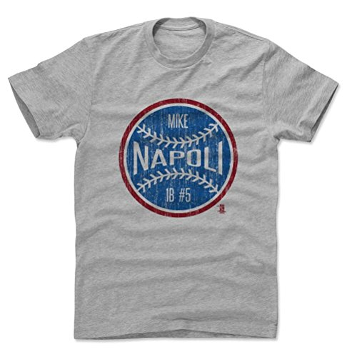 500 Levels Mike Napoli Cotton Shirt Xxx Large Heather Gray   Texas Baseball Fan Apparel   Mike Napoli Ball B
