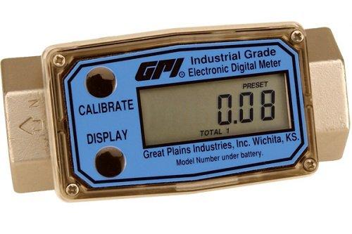 BSPT Reads Liters//Minute 2 ISO Female GPI G2H20I09LMB G2 Series High Pressure Stainless Steel Flowmeter 09 Computer