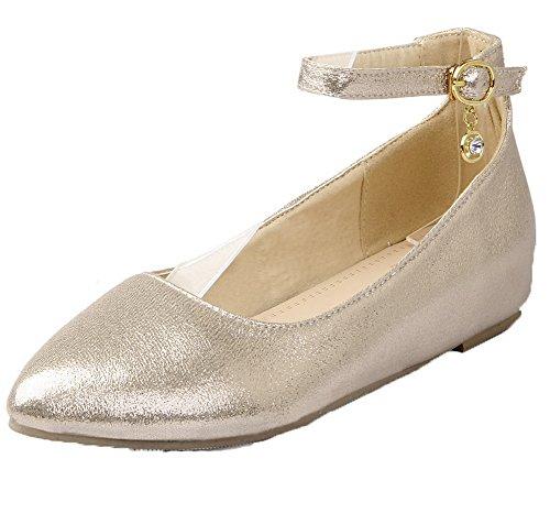 Kultaa Materiaaleja Sekoitus Alhaisen kengät toe Voguezone009 Naisten Selin Solki Huomautti Pumput vqAtqE5xzw