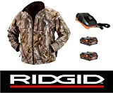 Ridgid 18 Volt Camouflage Heated Jacket Coat with (2) Batteries & Charger (XL) Reviews