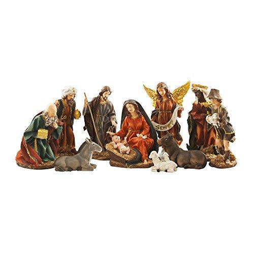 BRUBAKER Christmas Decoration Nativity Set of 11 Figurines 14 Inches Nativity Scene