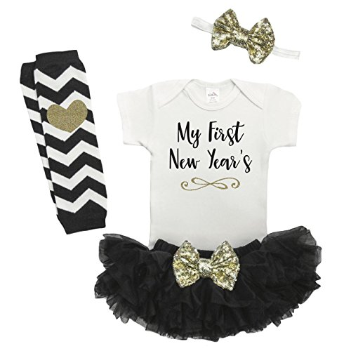 Bump and Beyond Designs Baby Girl New Years Outfit, Baby First New Years Outfit, Newborn New Years