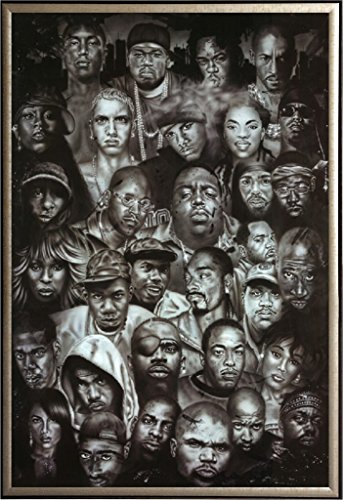 Framed Hip Hop Tupac Scarface Snoop Dog Collage 24x36 Poster