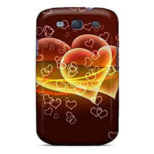 Durable Defender Case For Galaxy S3 Tpu Cover(flying Hearts)