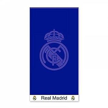 Real Madrid Toalla de baño algodón azul Copa del Mundo 2018 gran formato: Amazon.es: Hogar