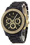 TRENDY FASHION JEWELRY STONE ROUND STUD LUXE WATCH BY FASHION DESTINATION