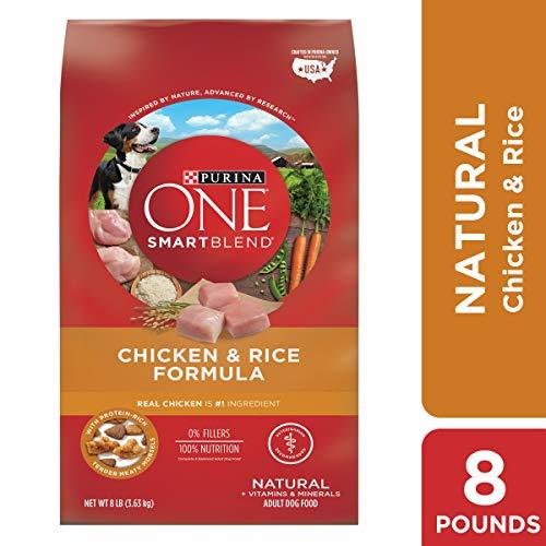 Purina ONE Natural Dry Dog Food; SmartBlend Chicken & Rice Formula - 8 lb. Bag ()
