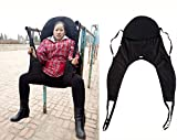 Padded U-Sling with Head Support, Universal Patient Lift Sling, Size Medium, 600lb Capacity