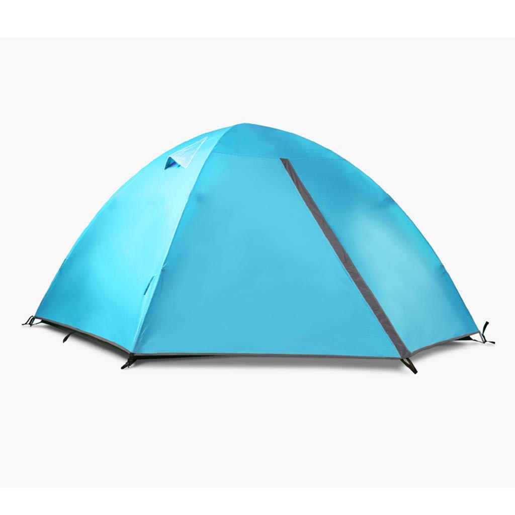 AX-outdoor products Zelt-Einzelne kampierende Überdachung tragbares im Freien Doppeltes Wasserdichtes Markisenpolyester-Tuch/Blaue Farbe 210  110  100cm