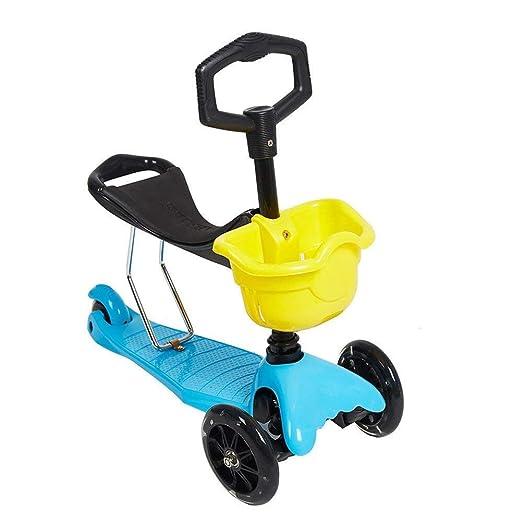 Scooter 2 En 1 para Niños con Asiento Extraíble, Patinete De ...