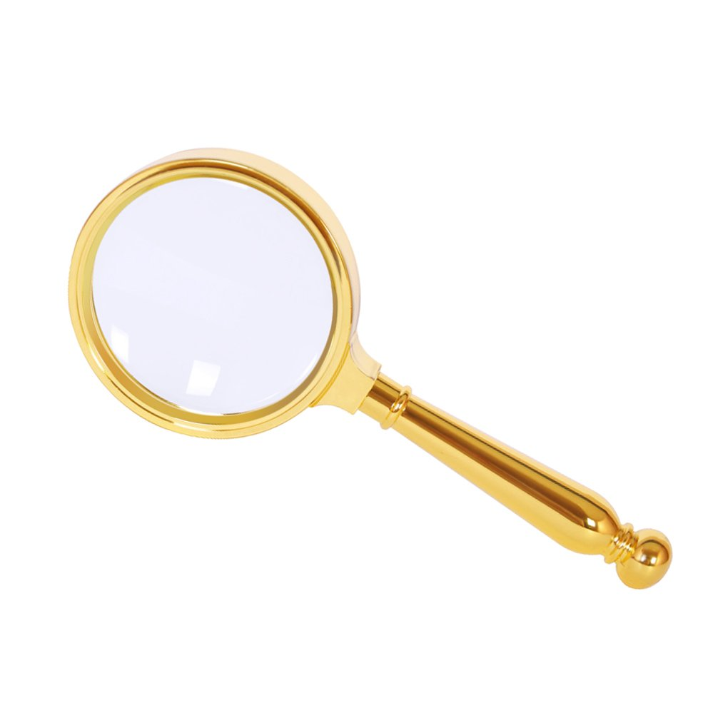 X10 Handheld Magnifier Reading Magnifying Glass Optical Lens Loupe Mirror for Senior Kid Macular Degeneration Low Vision Hobby Inspection Observing Stitching Jewelry Evaluating Antique Appreciation