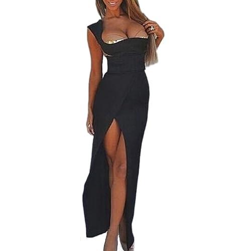 ABILIO - vestito lungo nero abito sera donna vestitino donna abiti sexy ROSSO carpet