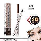 #2: Ankooy Eyebrow Pen,2018 Eyebrow Long Lasting Tint Dye Cream,Waterproof,Smudge-proof (02#)