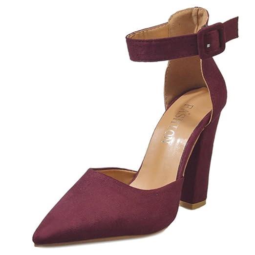 Chaussures à Talons Femme Sandales,8cm-up Talon Pointu en Daim Flip Flops  Printemps c7e36f869fb3