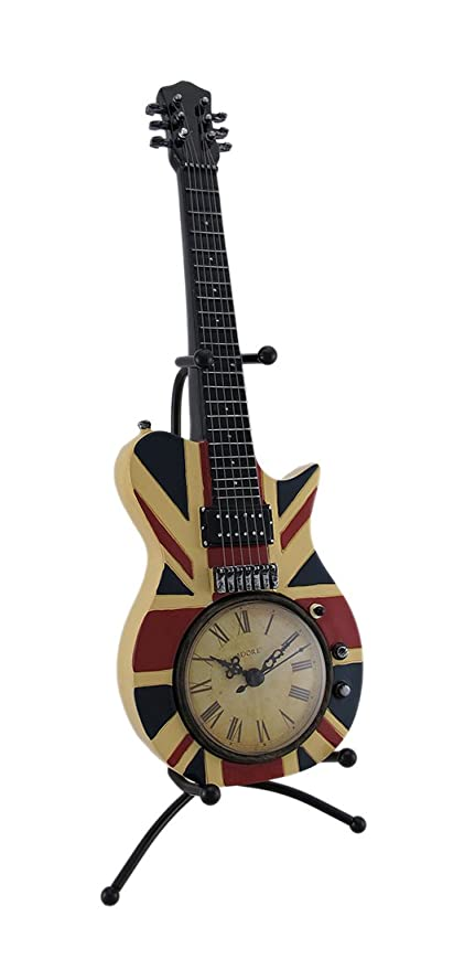 Amazoncom Zeckos British Flag Union Jack Acoustic Guitar Clock W