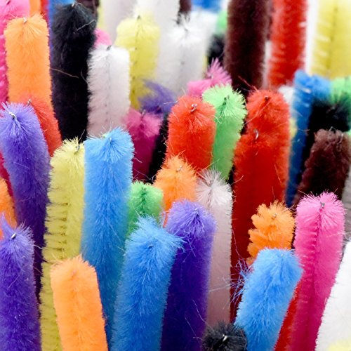 CHENILLE STICKS PIPE CLEANERS for Craft 100pcs Set by Colorona - Extra Long Reusable Chenille Wire Stem - Bendable & Twistable Summer Art Pipes - Kids Safe - Assorted Colors (12 Inches) 2017 Edition