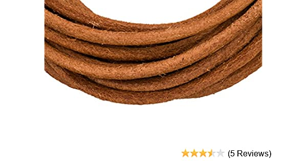 3mm round red 5 yard Full-grain leather cord