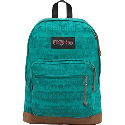 JanSport Right Pack Laptop Backpack- Discontinued Colors (Spanish Teal Ethnic