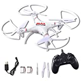 Joyin Toy RC Helicopter Drone Quadcopter 2.4Ghz 6-Axis Gyro 4 Channels with Altitude Hold, Best Choice for Drone starter Training with Bonus Battery, Full Size, without Camera
