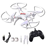RC Helicopter Drone Quadcopter 2.4Ghz 6-Axis Gyro 4 Channels with Altitude Hold, Best Choice for Drone Starter Training with Bonus Battery, Full Size, Without Camera