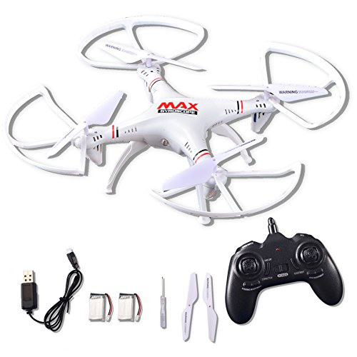 RC Helicopter Drone Quadcopter 2.4Ghz 6-Axis Gyro 4 Channels with Altitude Hold, Best Choice for Drone Starter Training with Bonus Battery, Full Size, Without Camera -