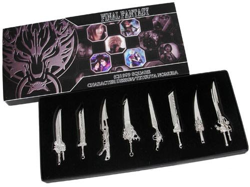 Final Fantasy Diecast Key Blade Collectors Set Of 8