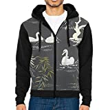 Unique Ballet Swan 3d Printed Raglan Hoodie Zip Men With Pocket Hip Hop Color Block Hoodie Men Zipper Color-block Sweater 80s For Teen Boys,thanksgiving Day Gifts