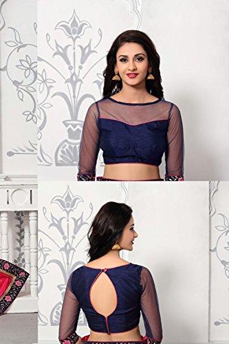 Da Progettista Tradizionale Partywear Sarees Facioun Indiani Etnica Sari Donne Rosa 1Pq7r1wx