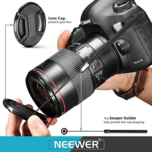 Neewer 62MM Lens Filter Accessory Kit for Cameras with 62MM Lens, Includes: UV CPL FLD Filter+Carry Pouch+Lens Hood+Lens Cap+Cap Keeper Leash by Neewer