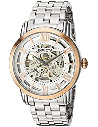Invicta Men's 'Objet d'Art' Automatic Stainless Steel Casual Watch, Color:Silver-Toned (Model: 22628)