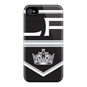 For Jamesmeggest Iphone Protective Case, High Quality For Iphone 4/4s Los Angeles Kings Skin Case Cover