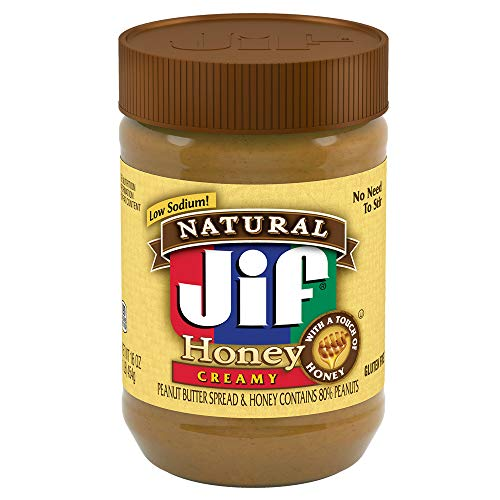 Jif Natural Peanut Butter Spread and Honey, 16 Ounce