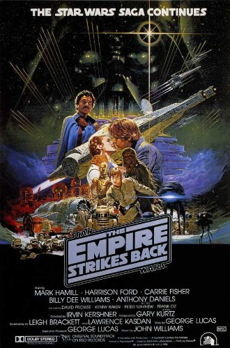 The Empire Strikes Back Movie Poster (27 x 40 Inches - 69cm x 102cm) (1980) Australian -(Mark Hamill)(Carrie Fisher)(Harrison Ford)(Billy Dee Williams)(Alec Guinness)(David Prowse) (The Strikes Poster Back Empire)