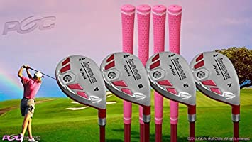 Senior Ladies iDrive rosa palos de golf todos los Hybrid Set ...