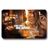 Foot Pad Door Mat Extreme House Kitchen Live Free or Die Hard Non-skid 16x24Inch / 40x60cm